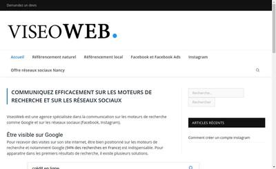 Site internet de Viseoweb