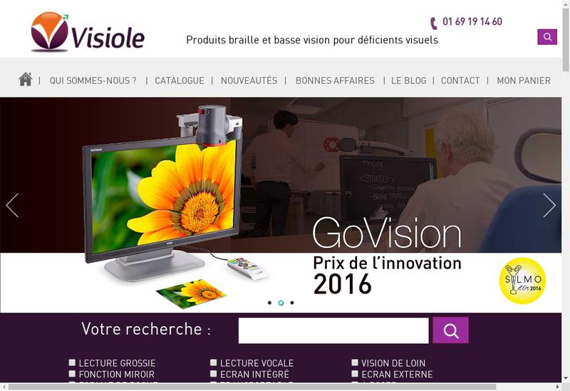 Capture d'écran du site de Visiole