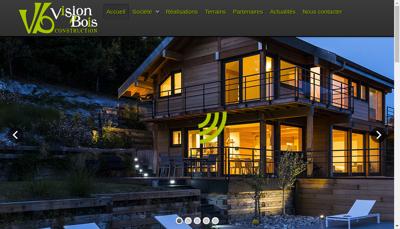 Capture d'écran du site de Vision Bois Construction