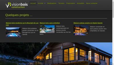 Site internet de Vision Bois Construction