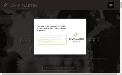 Site internet de Domaines Remy Martin