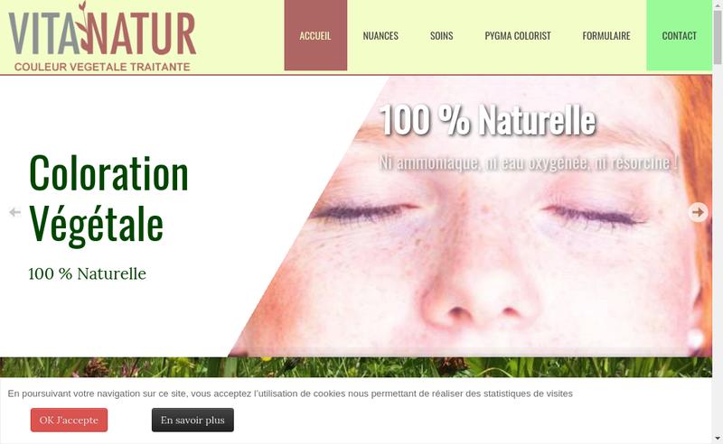 Capture d'écran du site de Vita'Natur