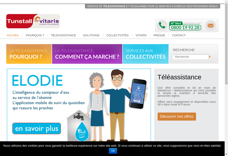 Capture d'écran du site de Vitaris