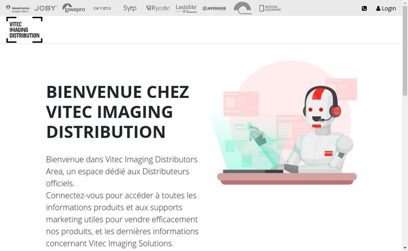 Capture d'écran du site de Vitec Imaging Distribution SAS