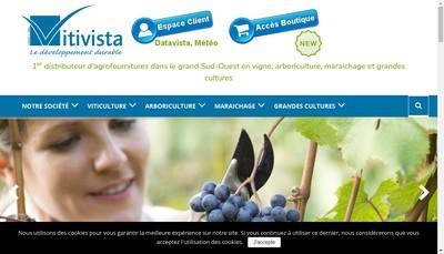 Site internet de Vitivista-Socafa-Etablissement