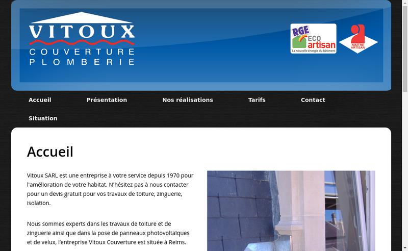 Capture d'écran du site de SARL Vitoux