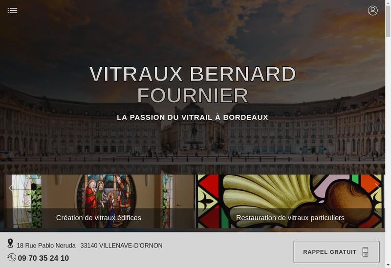 Capture d'écran du site de Atelier Bernard Fournier