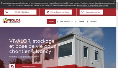 Site internet de Vivalor