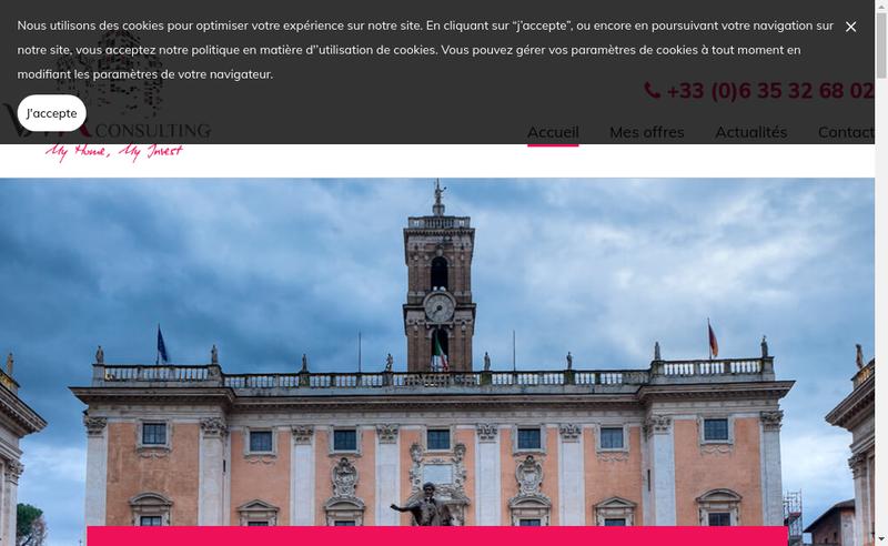 Capture d'écran du site de Vma Consulting