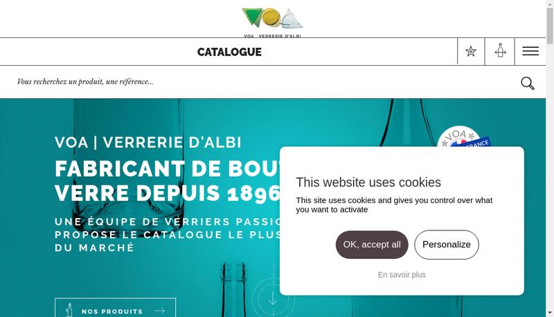 Capture d'écran du site de Voa-Verrerie d'Albi