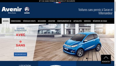 Site internet de Avenir Minis Autos