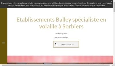 Site internet de Etablissements Balley