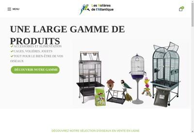 Site internet de Elevage Perroquet Passion Cyrille Bouvier - les Volières de l'Atlantique - Aquariophilie Expert - Ch