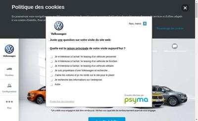 Site internet de Volkswagen 4 Motion