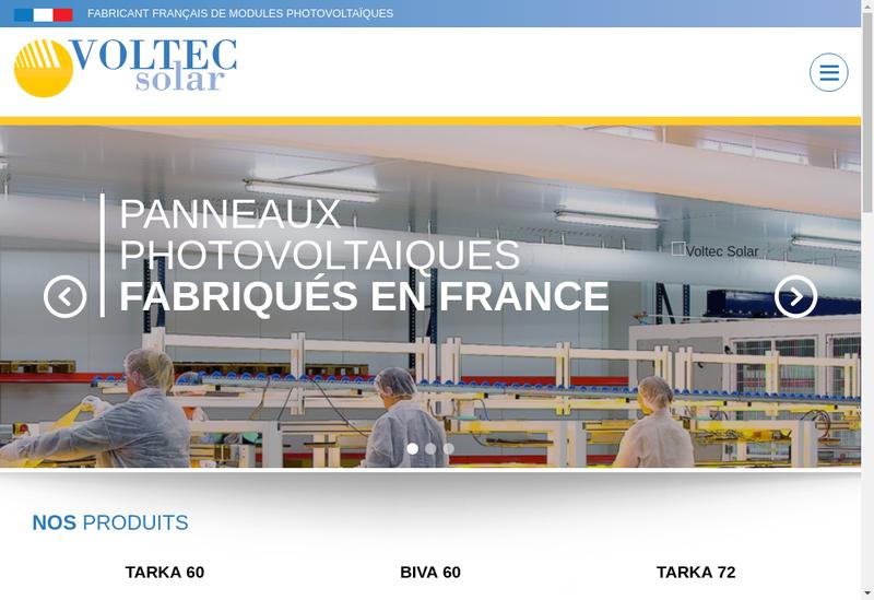 Capture d'écran du site de Voltec Solar