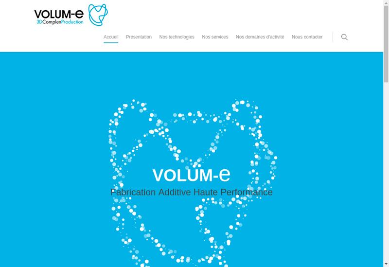 Capture d'écran du site de Volum E