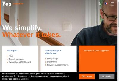 Site internet de Vos Logistics Lyon