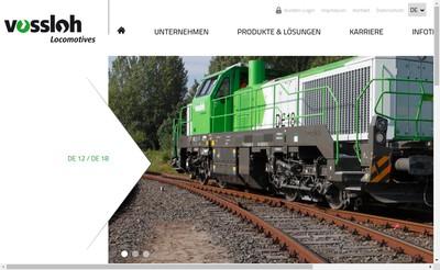 Site internet de Vossloh Locomotives France