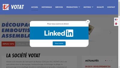 Site internet de Votat