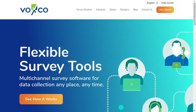 Site internet de Voxco