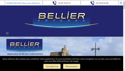 Site internet de Voyages Bellier