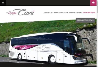 Site internet de Voyages Cave