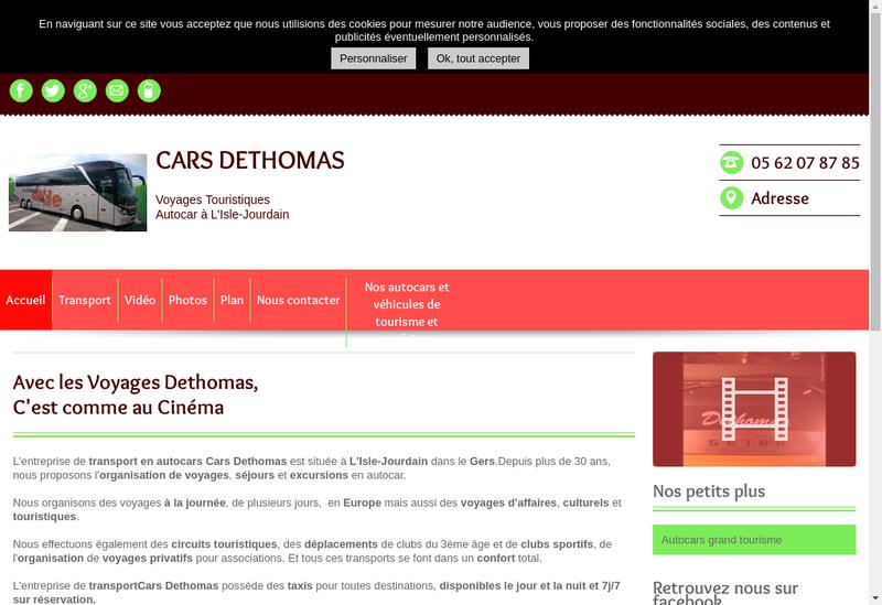 Capture d'écran du site de Cars Dethomas