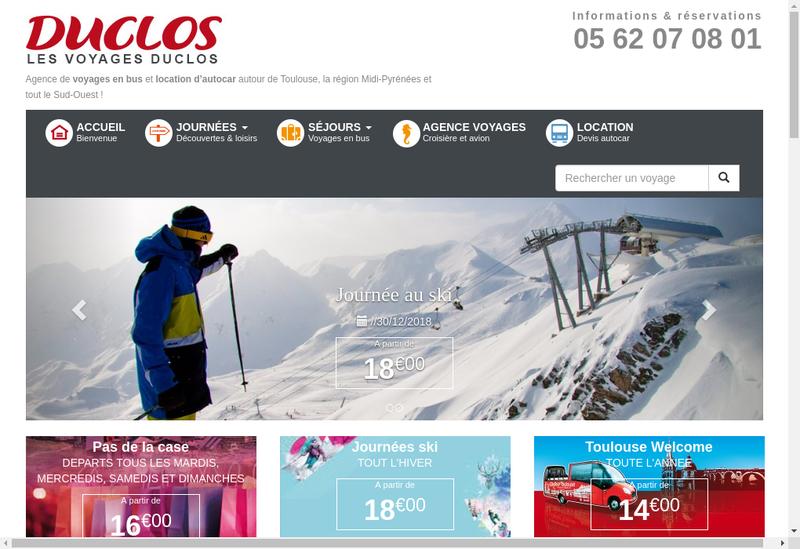Capture d'écran du site de France Forever/Paris Incentive/Toulous
