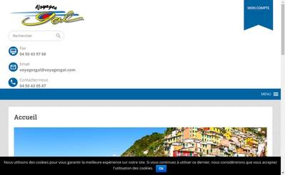 Site internet de Gal Voyages