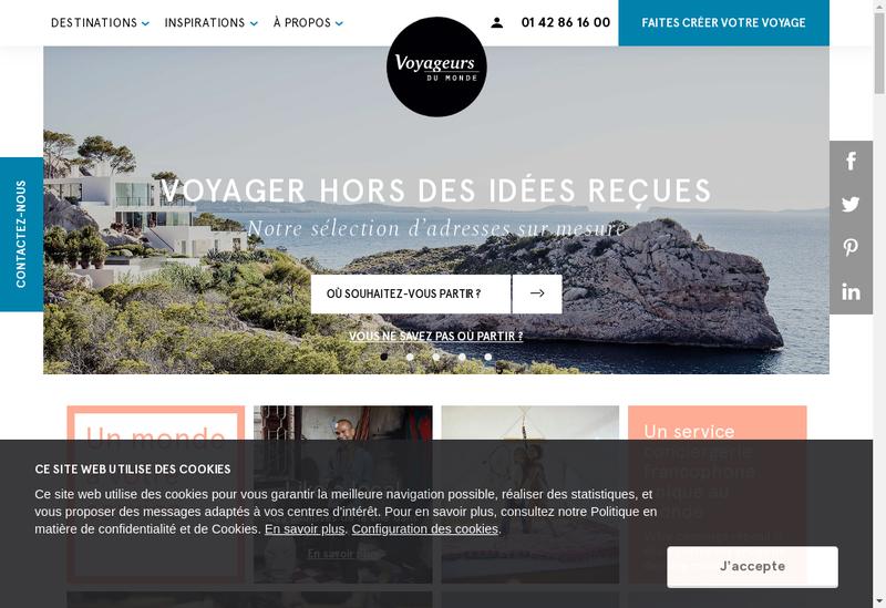 Capture d'écran du site de Voyageurs du Monde Express