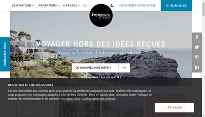Site internet de Voyageurs du Monde Express