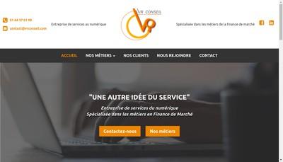 Site internet de VR Conseil