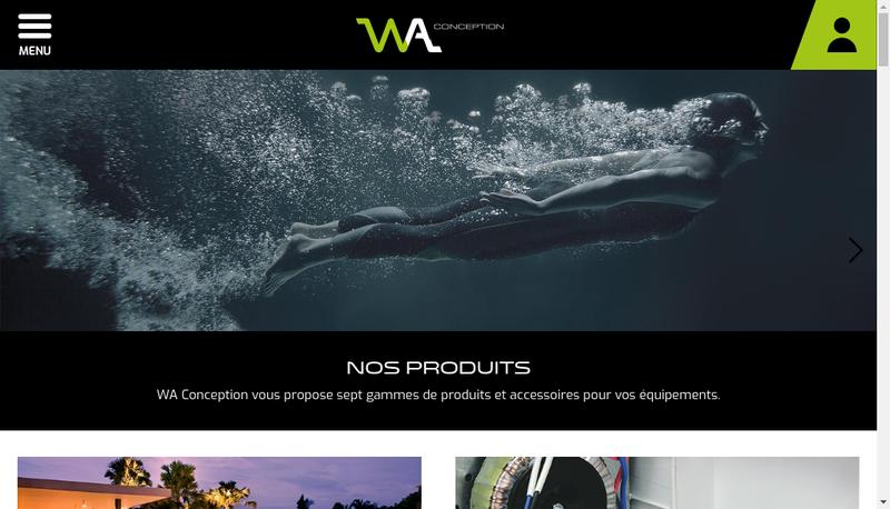 Capture d'écran du site de Societe Wa Conception