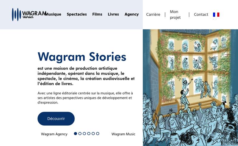 Capture d'écran du site de Wagram Music