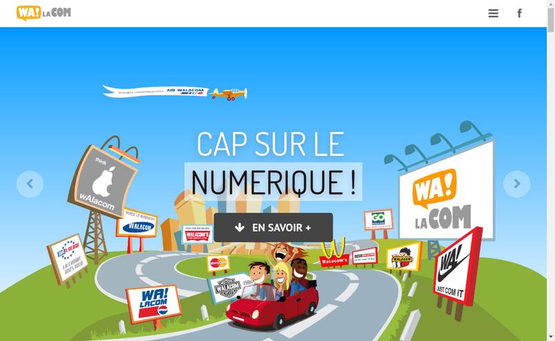 Capture d'écran du site de Walacom