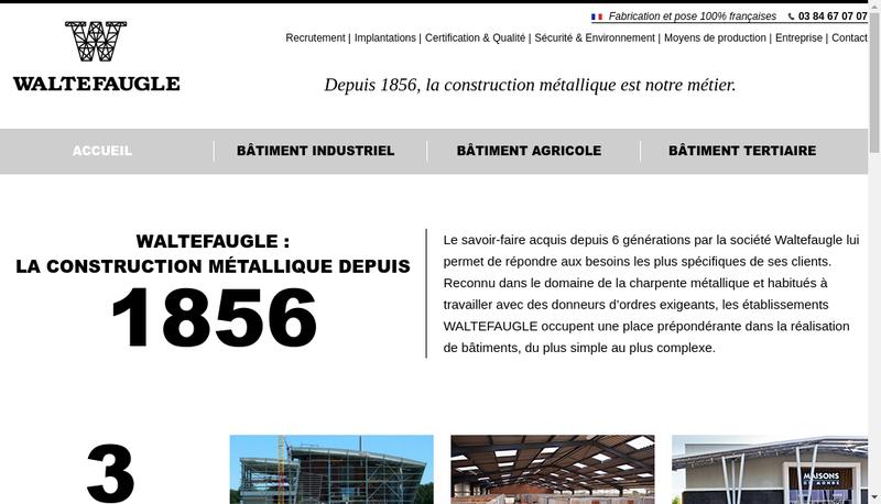 Capture d'écran du site de Waltefaugle Batiment