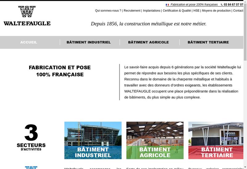 Capture d'écran du site de Waltefaugle