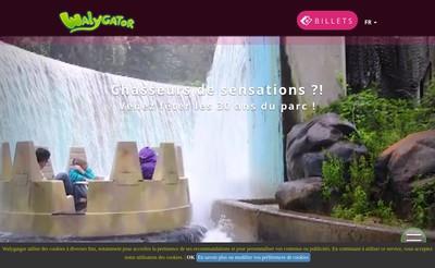 Site internet de Walibi Schtroumpf