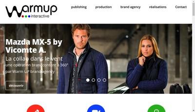 Site internet de Warm-Up Interactive