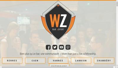 Site internet de Warpzone Cherbourg