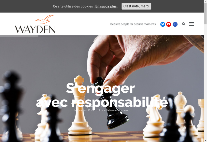 Capture d'écran du site de Wayden