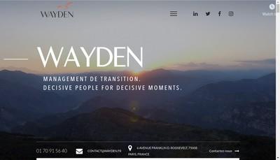 Site internet de Wayden