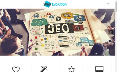 Site internet de Web Evolution