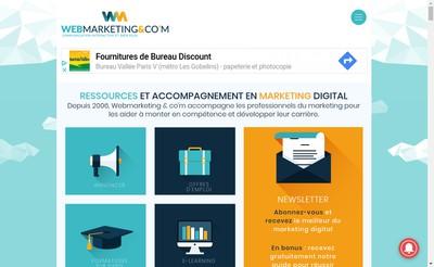Site internet de Webmarketing & Co'M