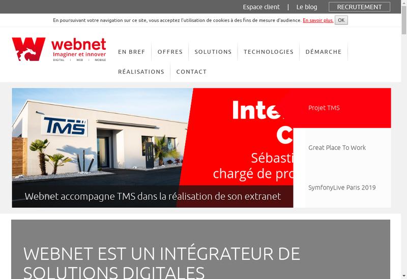 Capture d'écran du site de Webnet