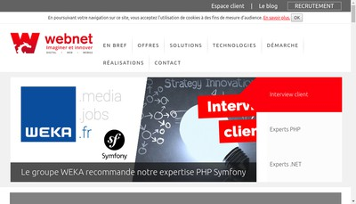 Site internet de Webnet Developpement