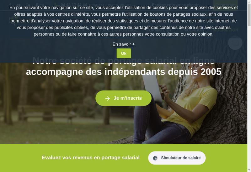 Capture d'écran du site de Webportage - Skinportage - Ikkao