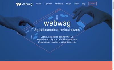 Site internet de Webwag Mobile