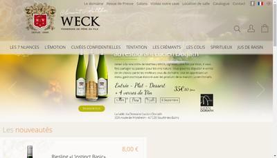 Site internet de Weck Clement et Fils