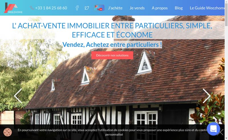Capture d'écran du site de Weezhome Solutions